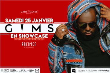 Showcase de Gims à l'Aren'Ice